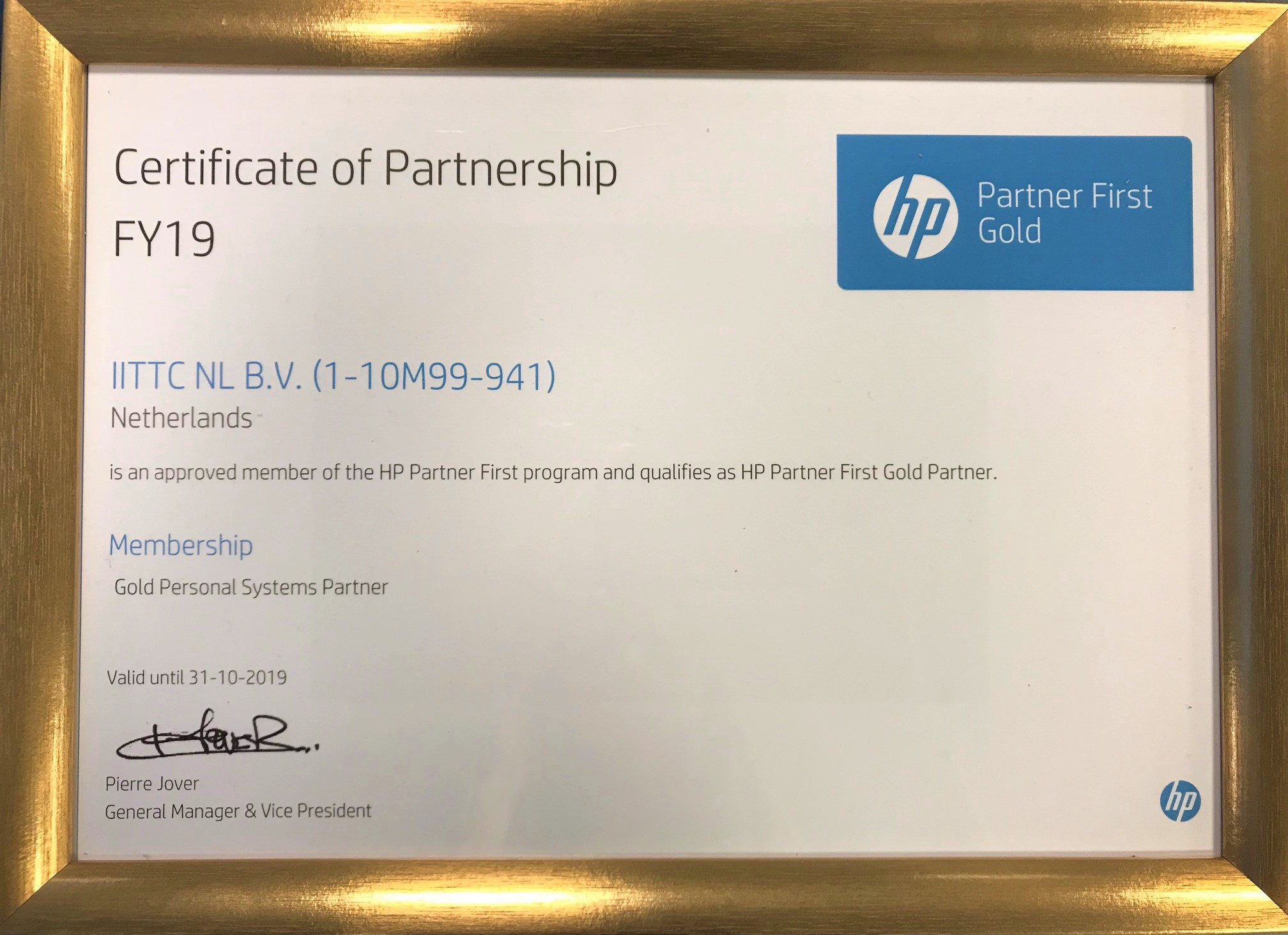 Gold First Partner 3